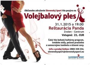 Ples volejbalistiek Slávie a volejbalistov MVK