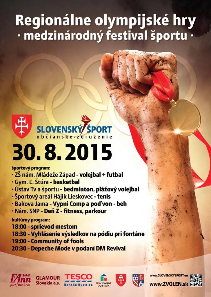 plagát ku podujatiu REgionálne olympijské hry 2015