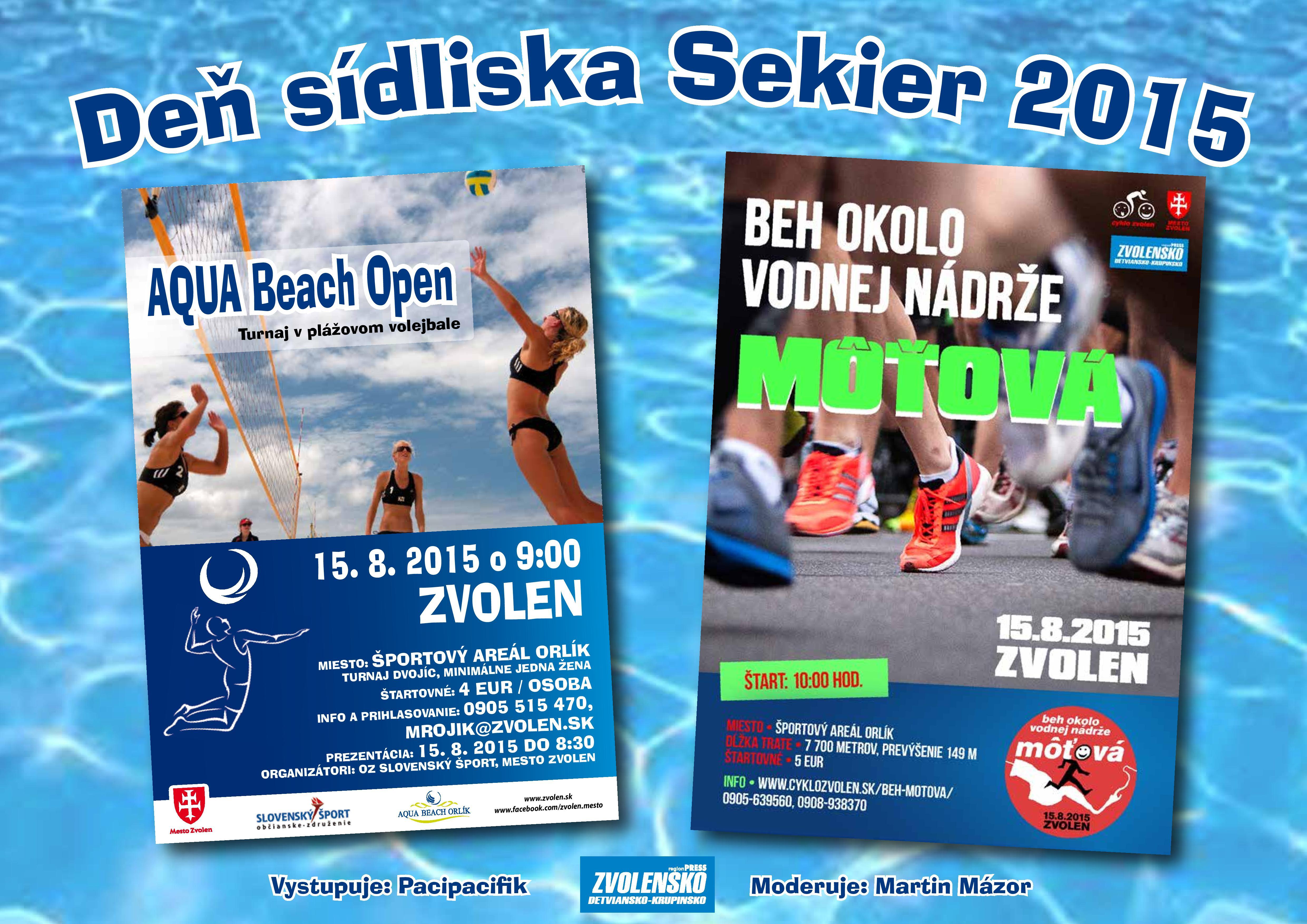 Turnaj  v plážovom volejbale a Beh okolo Vodnej nádrže Môťová
