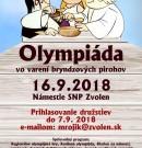 Olympiáda vo varení Bryndzových pirohov – Registrácia družstiev
