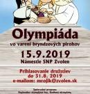 Olympiáda vo varení bryndzových pirohov 2019 – registrácia družstiev spustená